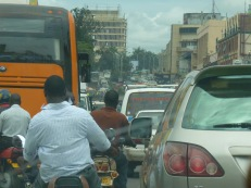 Traffic congestion in Kampala - health impacts from emissions, road safety issues