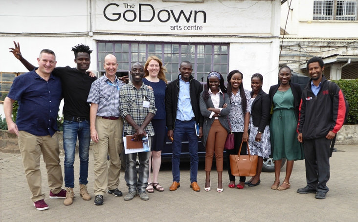 Excellent workshop hosts - The GoDown Arts centre in Nairobi, Kenya