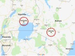 Locations of ICMiiST Case Study Cities - background Map - Google Map Copyright