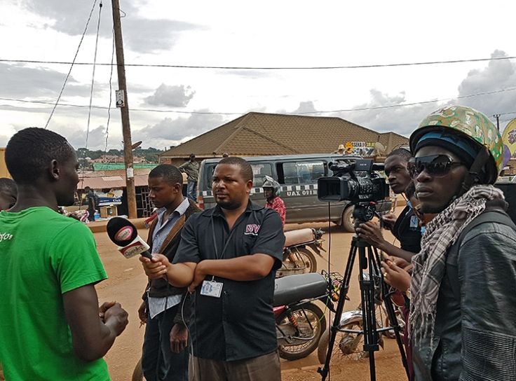 Photo of I=CMiiST being interviewed for TV