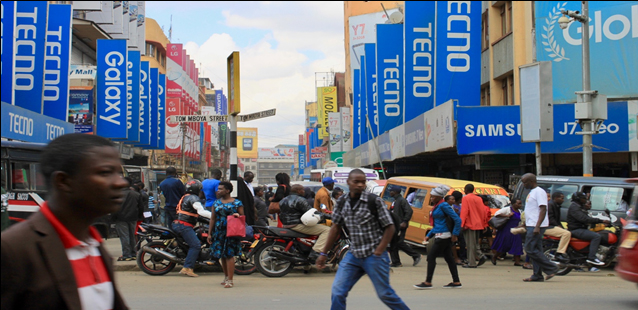 Photo - Scene of Luthuli Avenue, Nairobi, Kenya. Photo by: Melaneia Warwick