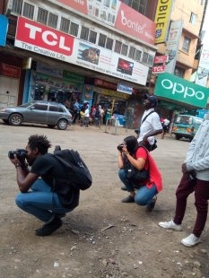 i-CMiiST Photographers on Luthuli Avenue. Photo: Mutura Kuria